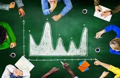 Concept de réunion de planification de coopération de séance de réflexion de tableau noir Photographie stock