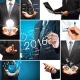 concept de réussite commerciale de la nouvelle année 2016 Images libres de droits