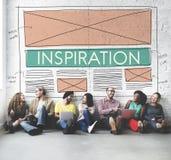 Concept de rêve d'imagination créative d'aspiration d'inspiration images libres de droits