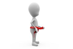concept de rad de ceinture de l'homme 3d Photographie stock libre de droits