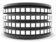Concept de rampe de stand de trame de photo de cube Images libres de droits