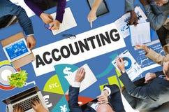 Concept de rapport de données de revenu de dépenses d'investissement de comptabilité photos libres de droits