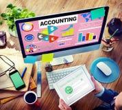 Concept de rapport de données de revenu de dépenses d'investissement de comptabilité image stock