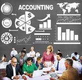 Concept de rapport de données de revenu de dépenses d'investissement de comptabilité images libres de droits