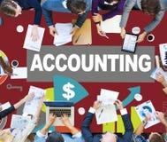 Concept de rapport de données de revenu de dépenses d'investissement de comptabilité images stock
