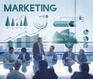 Concept de rapport de gestion d'Analytics de vente Images libres de droits