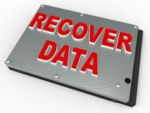 Concept de récupération de données Image libre de droits