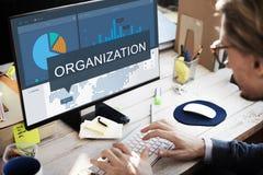 Concept de recherche de marché de stratégie d'organisation images stock