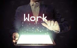 Concept de recherche de travail images stock