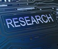 Concept de recherches. Image libre de droits