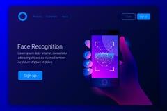 Concept de reconnaissance des visages Technologies de pointe illustration libre de droits