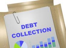 Concept de recouvrement des dettes illustration stock