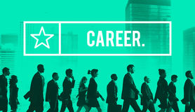 Concept de recrutement d'emploi de ressources humaines de profession de carrière images libres de droits