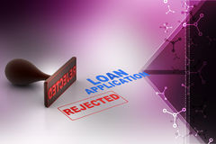 Concept de rejet de demande de prêt illustration libre de droits