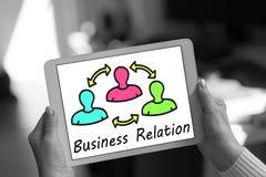 Concept de relation d'affaires sur un comprimé image stock