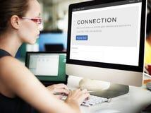 Concept de relation de mise en réseau de correspondance de connexion photos stock
