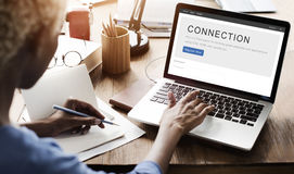 Concept de relation de mise en réseau de correspondance de connexion images libres de droits
