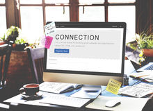 Concept de relation de mise en réseau de correspondance de connexion image stock