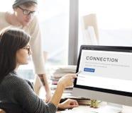 Concept de relation de mise en réseau de correspondance de connexion photographie stock libre de droits