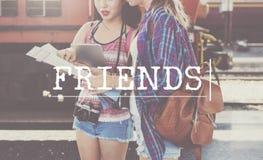 Concept de relations d'association d'amitié d'amis Photos libres de droits
