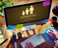 Concept de relations d'unité de famille de générations Photos stock