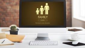 Concept de relations d'unité de générations de famille Image libre de droits