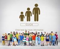 Concept de relations d'unité de générations de famille Images stock