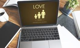 Concept de relations d'unité de générations de famille d'amour Image stock