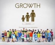 Concept de relations de générations de famille de croissance Photographie stock libre de droits