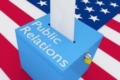 Concept de relations publiques Photos stock