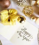 Concept de relaxation de carte de voeux de célébration de bonne année images stock