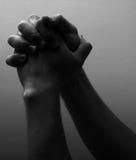 Concept de religion - priant Images libres de droits