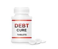 Concept de remède de dette. Photographie stock