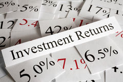 Concept de rentabilités de capitaux engagés Images stock