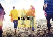 Concept de repaire de vacances de vacances d'amitié de plage d'été Photo libre de droits