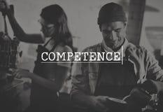 Concept de représentation d'expérience de talent de compétence de capacité de compétence images stock