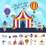 Concept de représentation de cirque Image stock