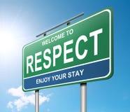 Concept de respect. Images stock