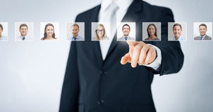 Concept de ressources humaines, de carrière et de recrutement Images libres de droits
