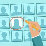 Concept de ressources humaines de vecteur Images stock