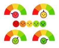 Concept de retour d'émotion Illustration de vecteur illustration stock
