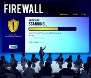 Concept de retrait de Malware de pare-feu de protection de fichier de données Images stock