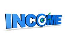 Concept d'affaires de revenu Photo stock