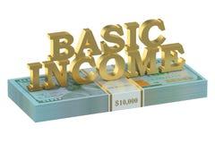 Concept de revenu de base des Etats-Unis illustration stock