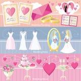 Concept de robe et de décor de planification de mariage Images libres de droits