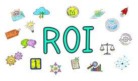 Concept de ROI illustration stock