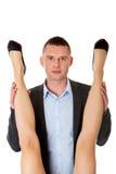 Concept de romance de bureau Hommes d'affaires dans l'amour Photographie stock libre de droits