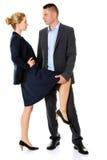 Concept de romance de bureau Hommes d'affaires dans l'amour Image stock