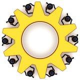 Concept de roue de trains de travail d'équipe Photos libres de droits
