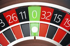 concept de roulette de casino du rendu 3D Table de jeu dans le casino de luxe Jeu de roulette de casino Photos stock